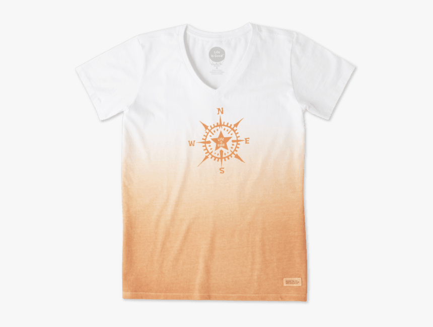 "Women""s Compass Star Crusher Vee - Active Shirt, HD Png Download, Free Download"