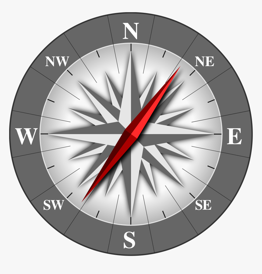 Compass Clip Arts - Compass Pointing North East, HD Png Download, Free Download