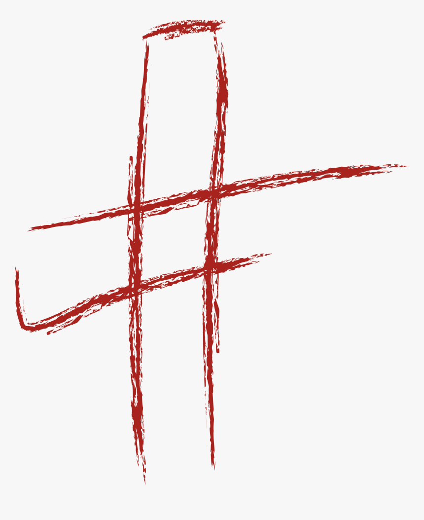 Brushstroke Cross In Red - Cross Brush Stroke Red Hd, HD Png Download, Free Download
