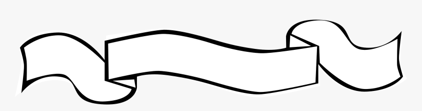 Blank Scroll Banner Png For Kids - White Banner On Black Background, Transparent Png, Free Download