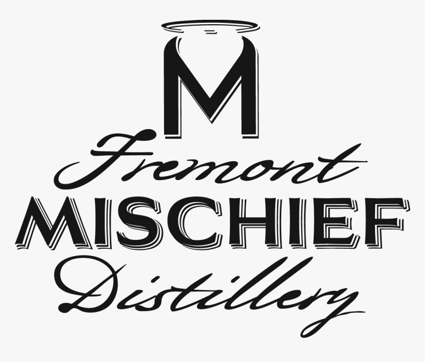 Fremont Mischief Distillery Word Art Only Logo Black - Calligraphy, HD Png Download, Free Download