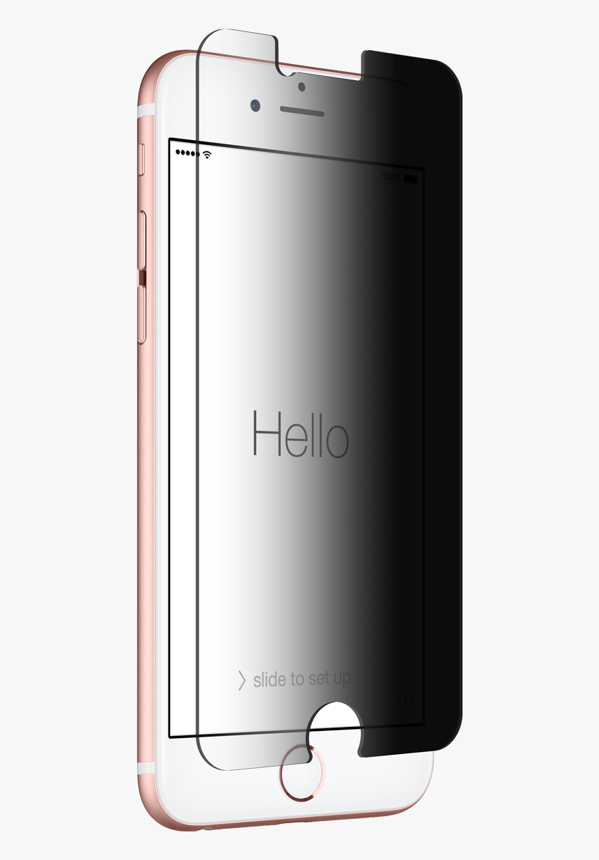 Apple Iphone 6/7/8 Series Privacy Tempered Glass - Smartphone, HD Png Download, Free Download