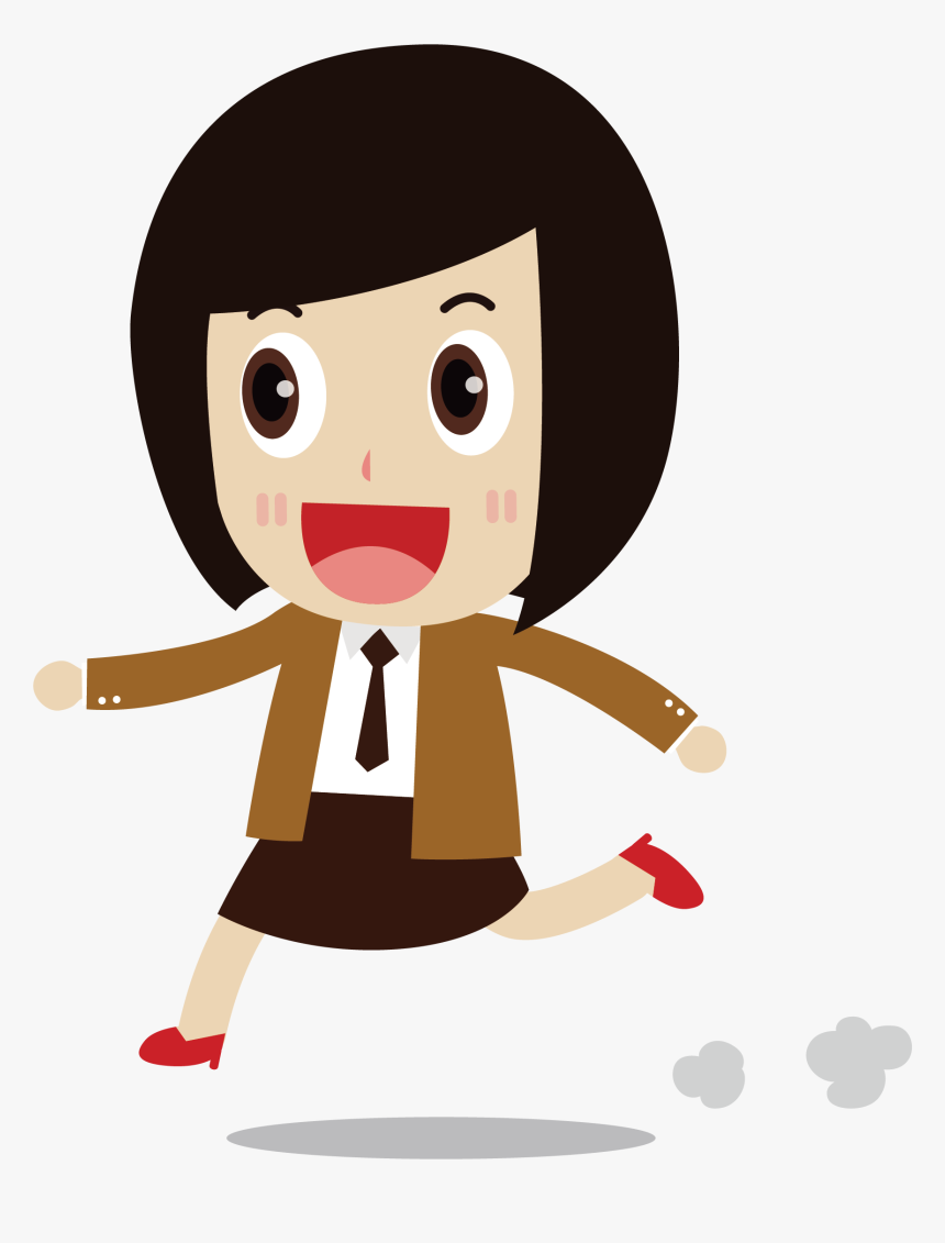 Short Hair Clipart - Short Hair Girl Clipart, HD Png Download, Free Download