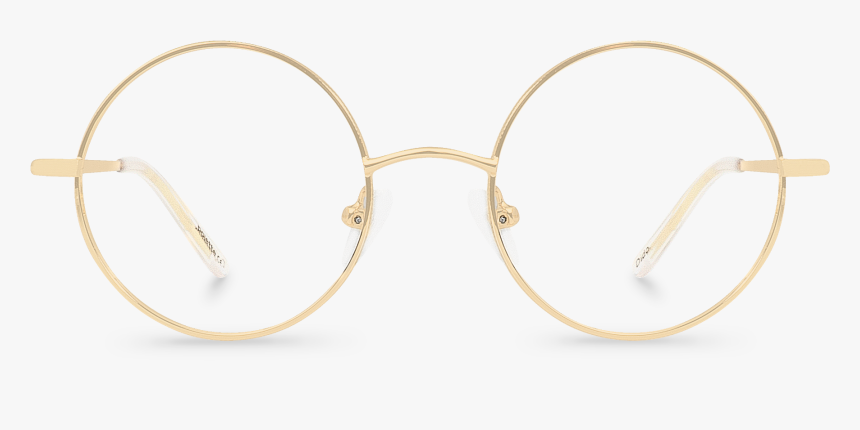 Golden Round Glasses, HD Png Download, Free Download