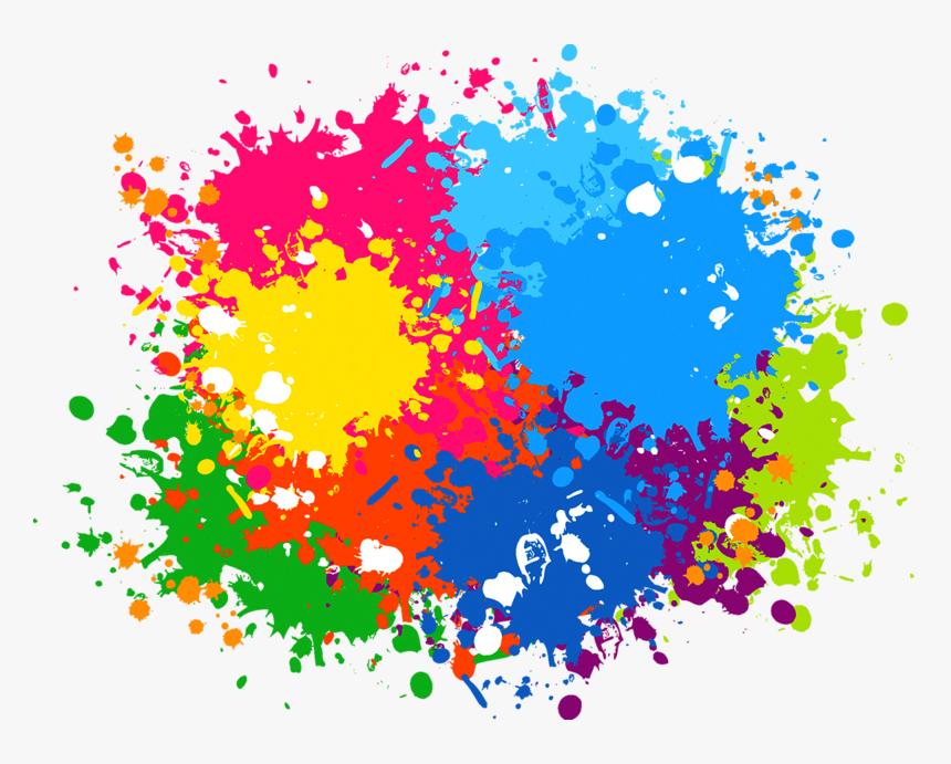 Color Text Splash Cdr Point Free Frame - Transparent Paint Splash Png, Png Download, Free Download