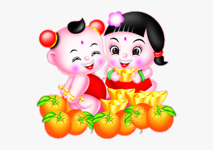 Transparent Mascot Drawing Fuwa Fruit Food For New - 桔子, HD Png Download, Free Download