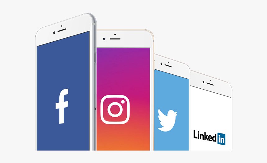 Social Media On Phone Png, Transparent Png, Free Download