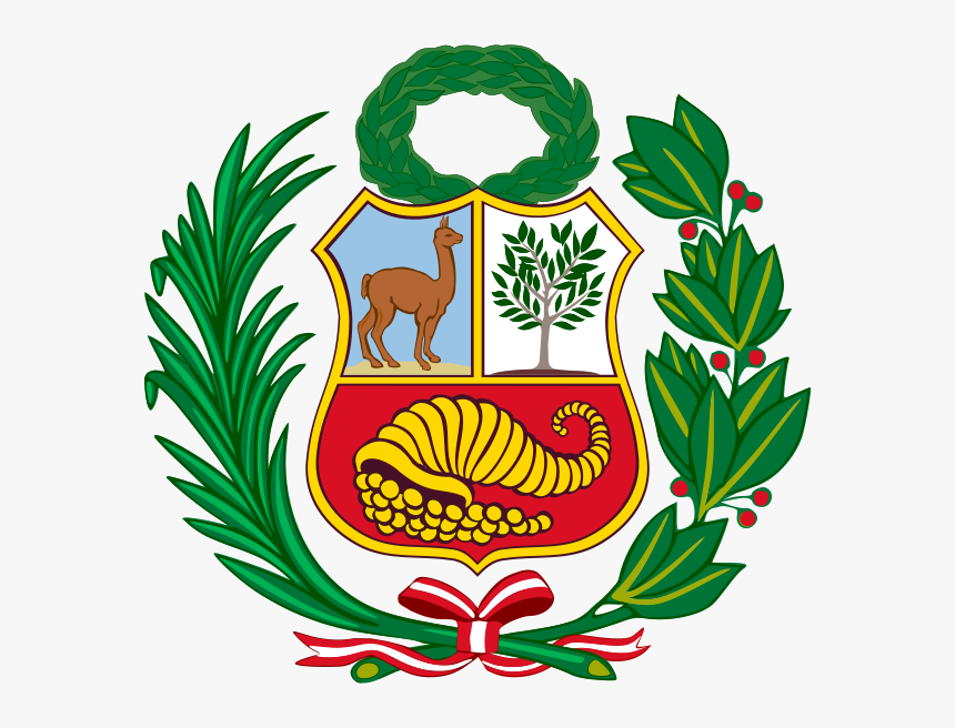 Coat Of Arms Of Peru Alternative Version - Peru Flag Clipart, HD Png Download, Free Download