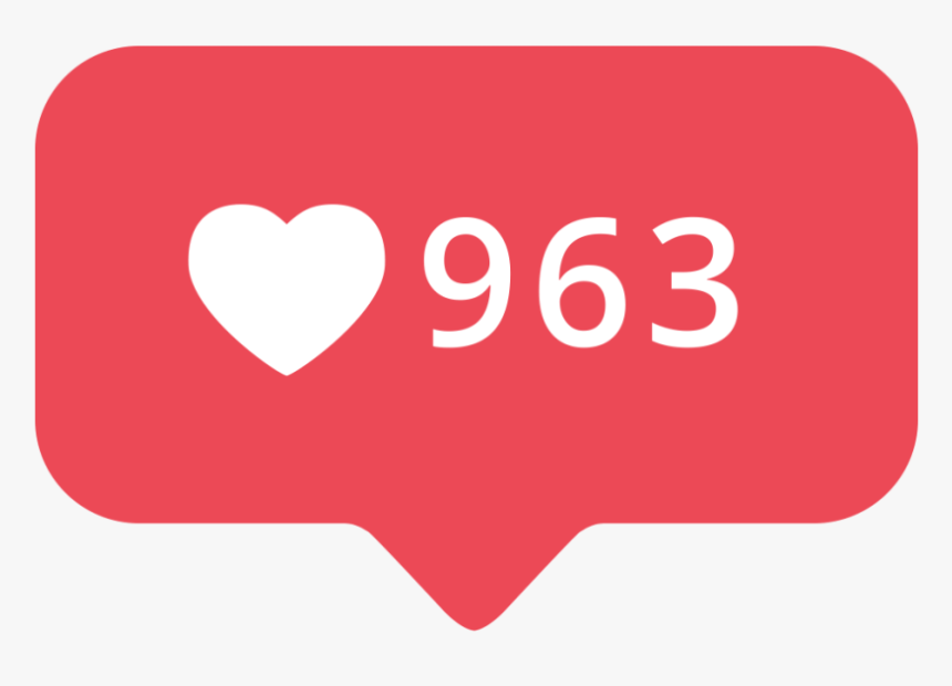Instagram Likes Free Png - Social Media, Transparent Png, Free Download