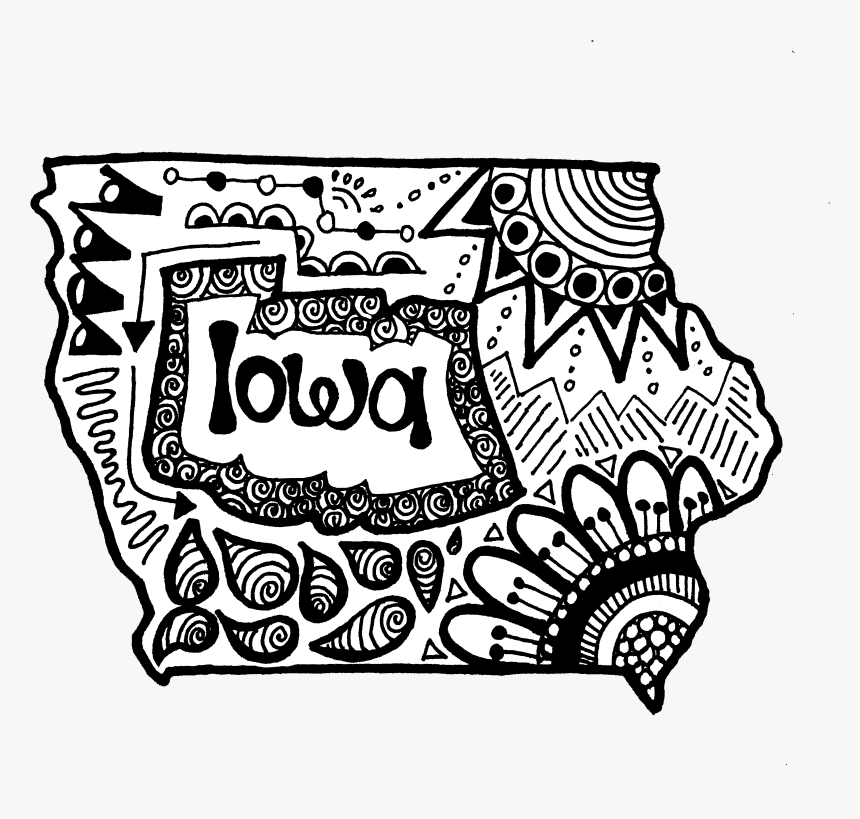 Iowa State Zentangle - Illustration, HD Png Download, Free Download