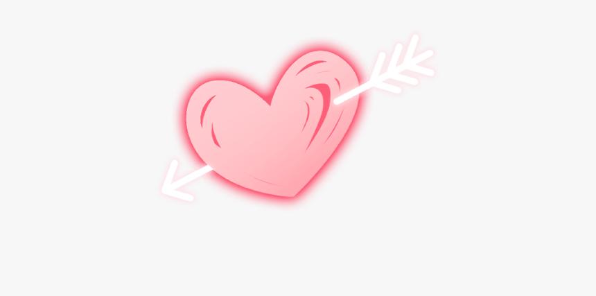 #neon #pink #heart #arrow #cupidsarrow #love #freetoedit - Heart, HD Png Download, Free Download