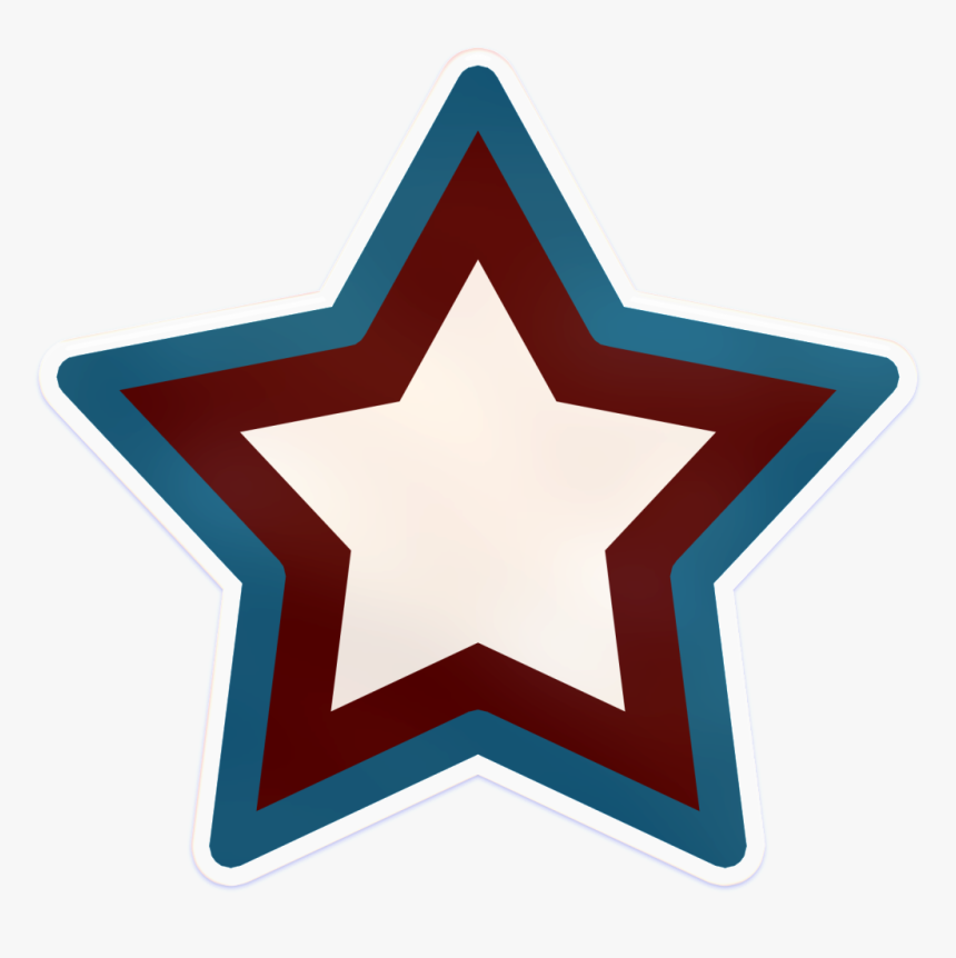 Quickly, Before They See Part - White Star Blue Outline Png, Transparent Png, Free Download