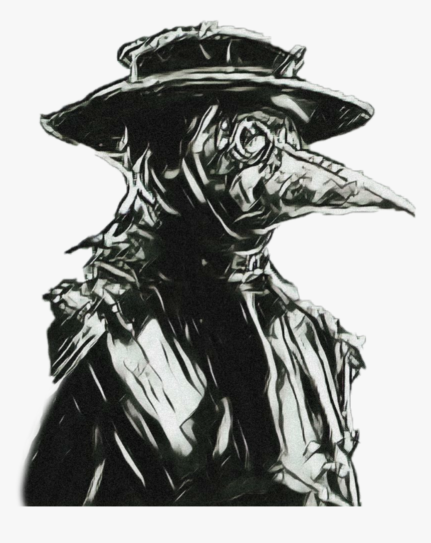 #plaguedoctor #doctor #plague #mask #masked #plaguedoctormask - Plague Doctor Mask Drawing, HD Png Download, Free Download