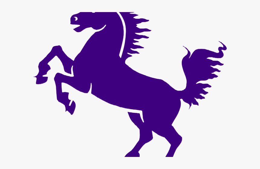 Mustang Clipart Purple - Black Rearing Horse Png, Transparent Png, Free Download