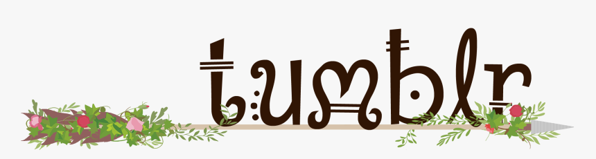 Text Tumblr In A Brown Fantasy Type Sitting On A Wooden - Calligraphy, HD Png Download, Free Download