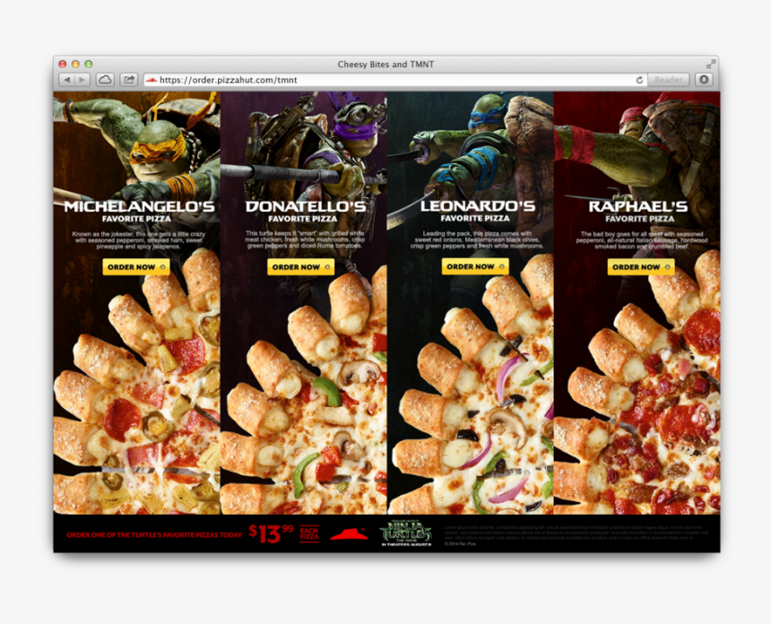 Pizza Hut Digital Banners , Png Download - Pizza Hut Ninja Turtle Pizzas, Transparent Png, Free Download