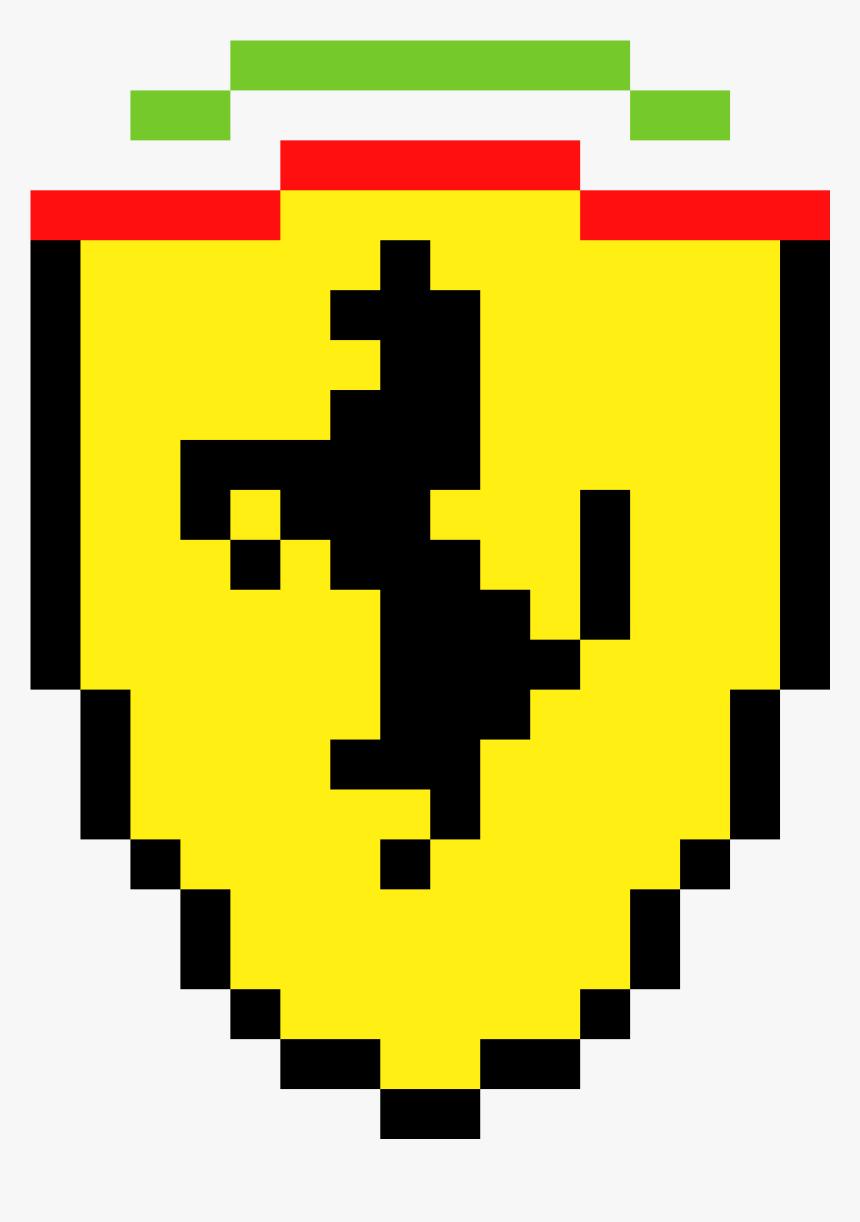 Ferrari Logo Pixel Art , Png Download - Pixel Art Ferrari Logo, Transparent Png, Free Download