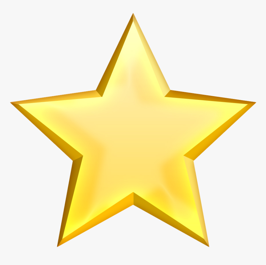 Golden Star Png Free Pic - Gold Star Transparent Background Icon, Png Download, Free Download