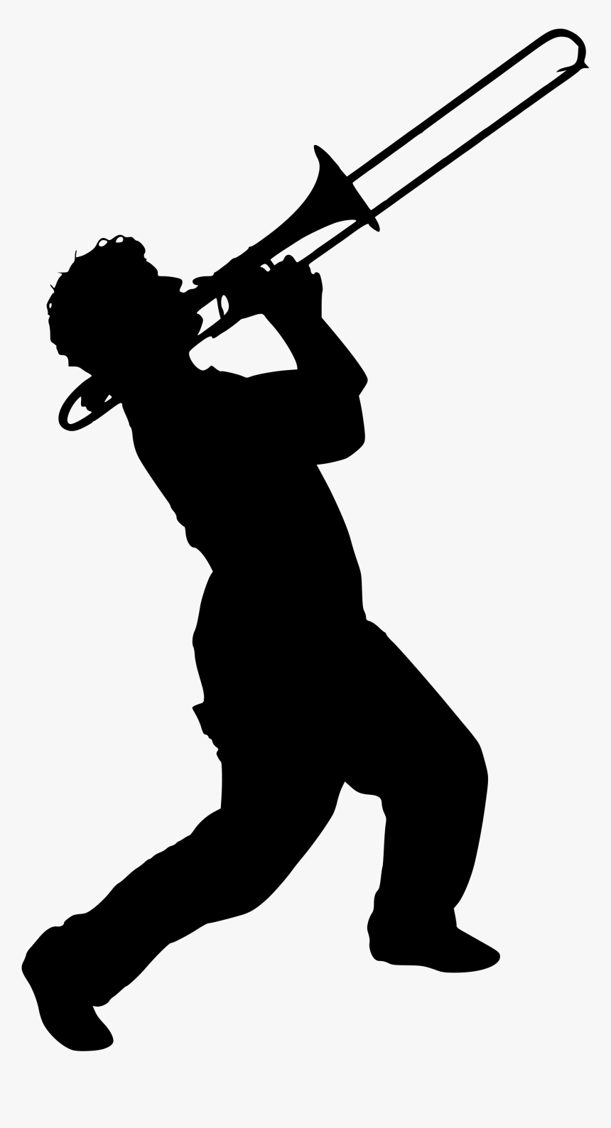 Transparent Trombone Png - Band Silhouette, Png Download, Free Download