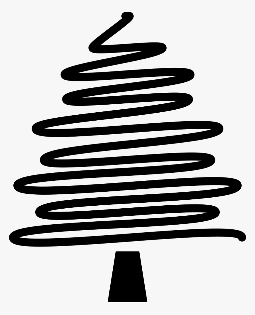 Christmas Tree Drawing - Christmas Tree Lines Drawing Png, Transparent Png, Free Download