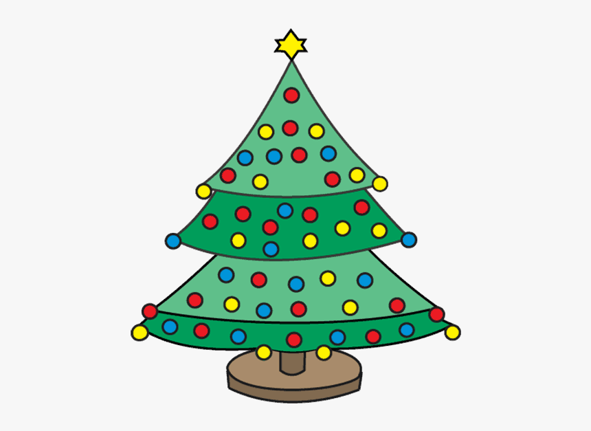 How To Draw Christmas Tree - X Mas Tree Drawing, HD Png Download, Free Download
