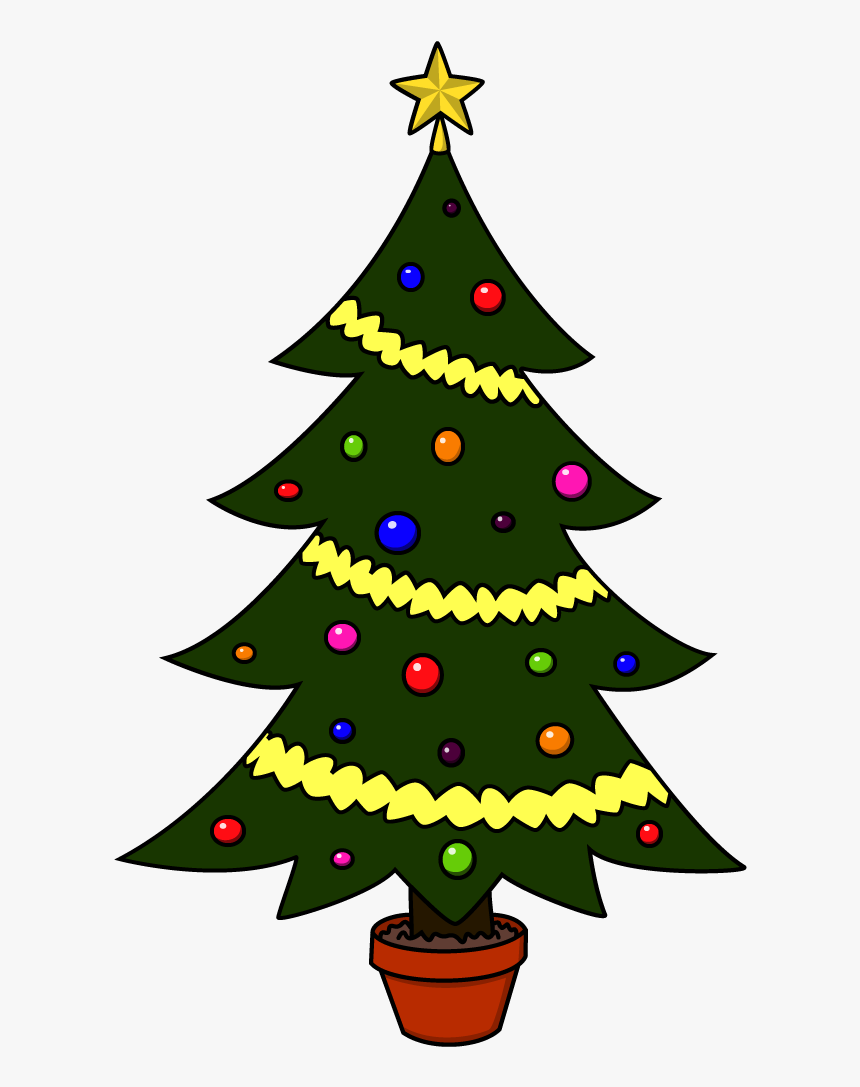 Transparent Christmas Tree Drawing Png - Christmas Tree Drawing, Png Download, Free Download
