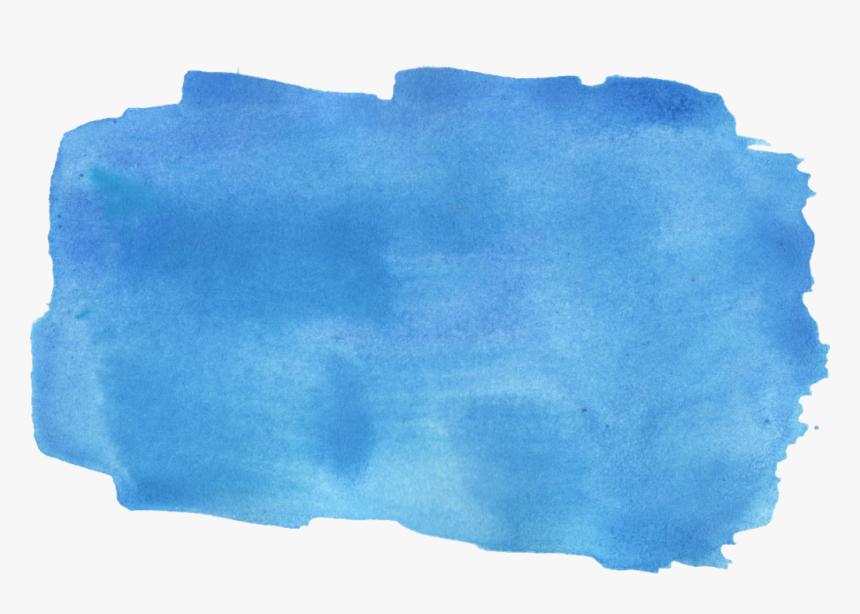 Watercolor Brush Stroke Png - Blue Watercolor Brush Stroke, Transparent Png, Free Download