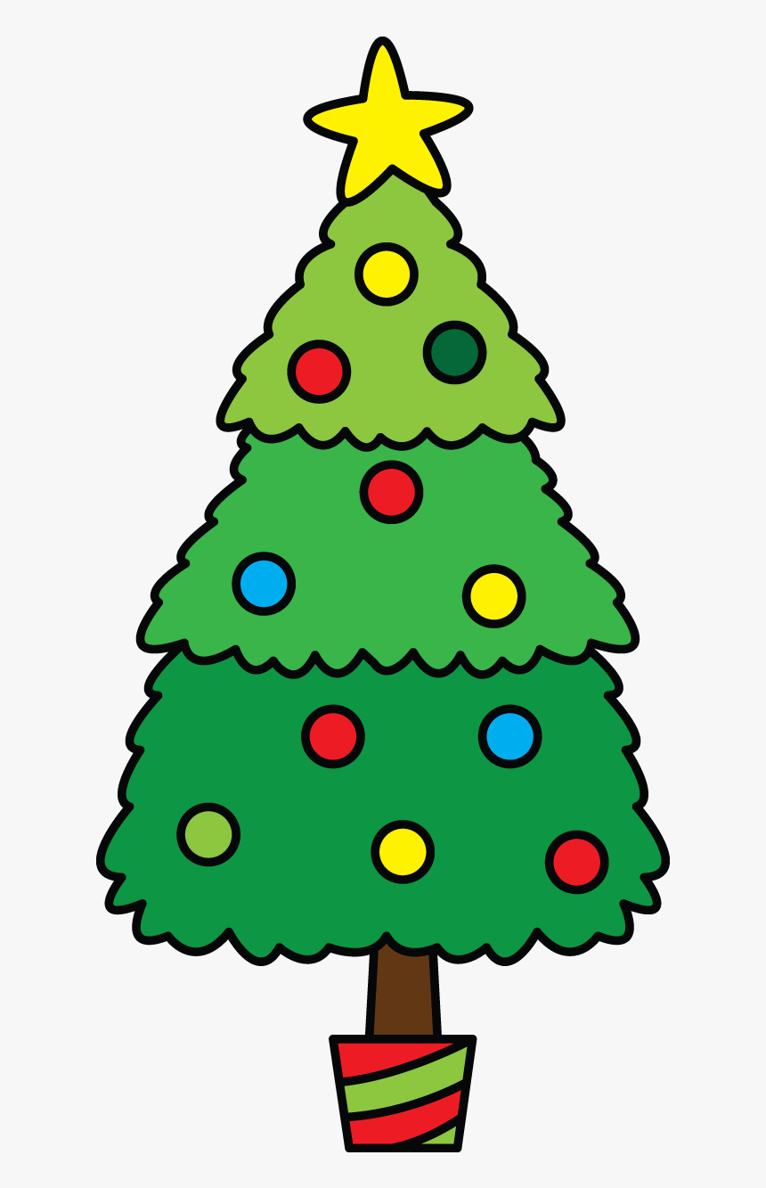Christmas Tree Decoration Drawing - Do Christmas Tree Drawing, HD Png Download, Free Download