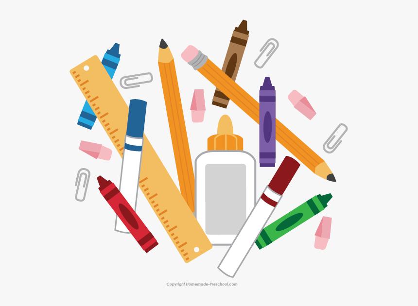 Transparent Back To School Clipart Png School Supplies Transparent Background Png Download Kindpng
