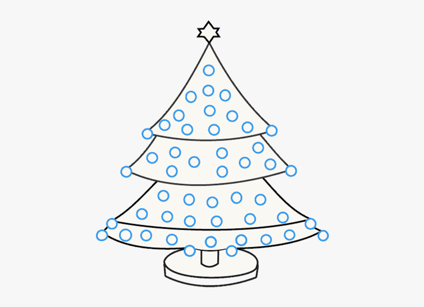 How To Draw Christmas Tree - School Drawing Christmas Tree, HD Png Download, Free Download
