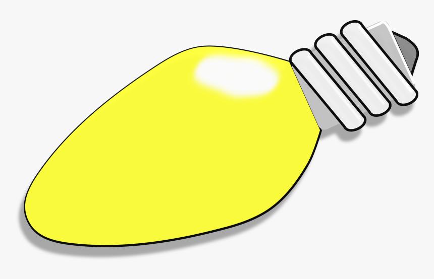 Transparent Christmas Light Clip Art - Yellow Christmas Light Bulbs, HD Png Download, Free Download