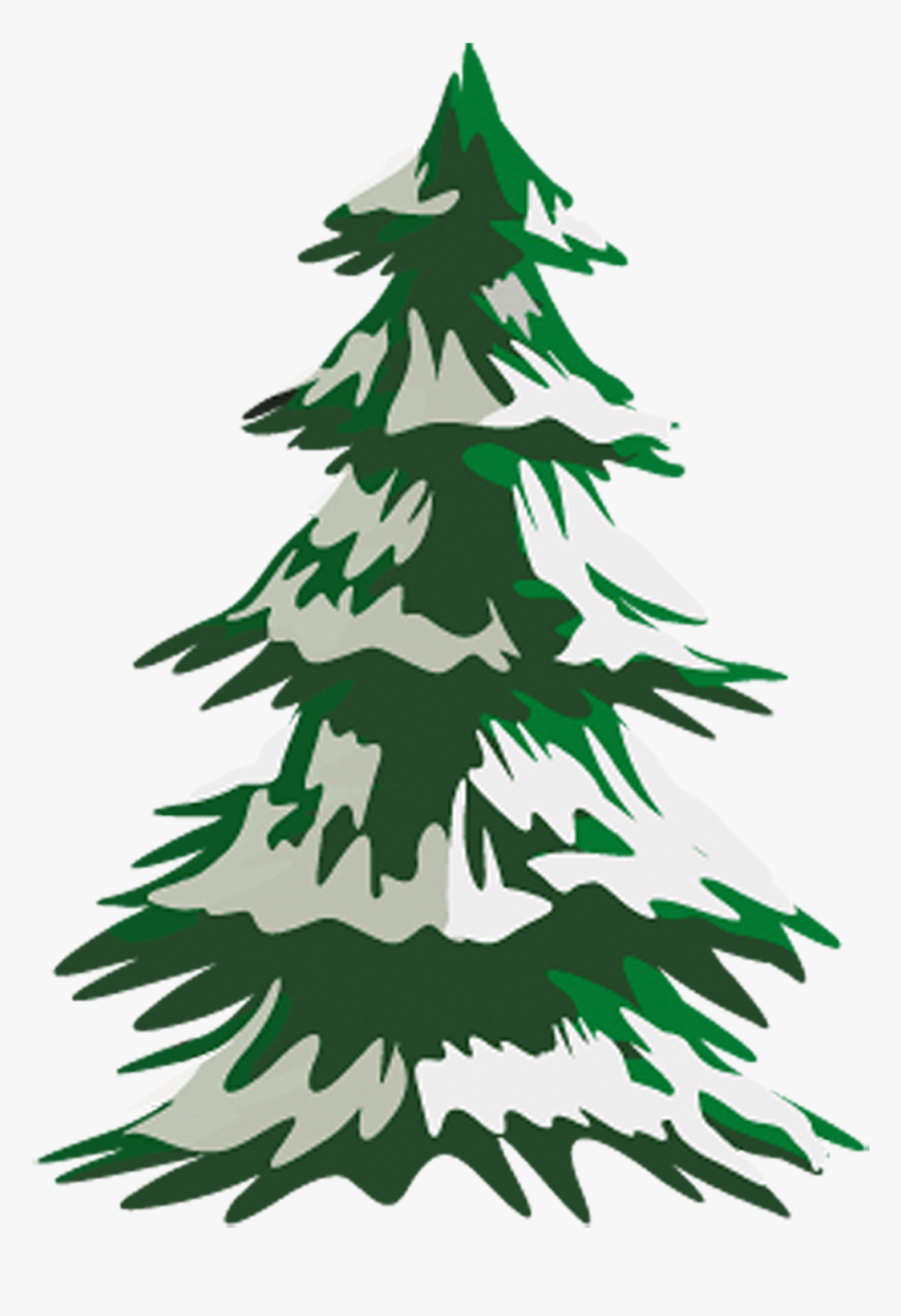 Transparent Hemlock Clipart - Snow Tree Drawing Png, Png Download, Free Download