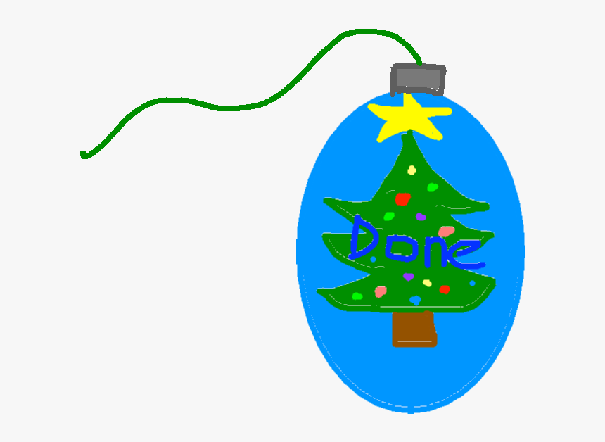 Transparent Christmas Tree Drawing Png - Christmas Ornament, Png Download, Free Download
