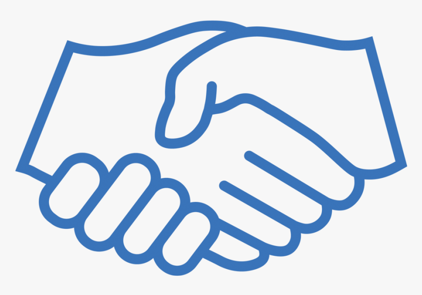 Black And White Handshake Vector, HD Png Download - kindpng