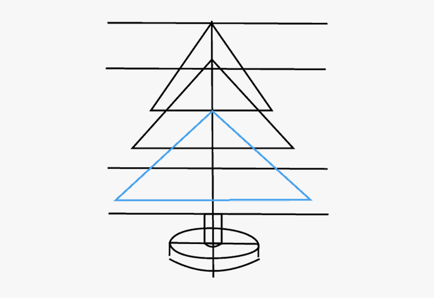 How To Draw Christmas Tree - Christmas Tree, HD Png Download, Free Download