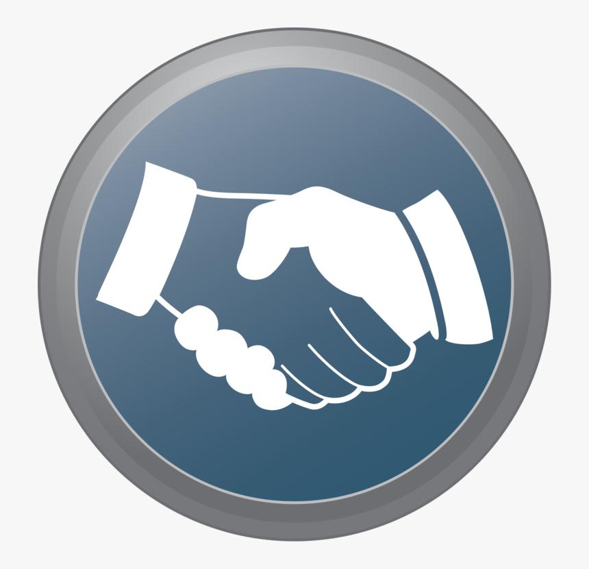 Hand Shake Button Svg Clip Arts - Circle Hand Shake Logo, HD Png Download, Free Download