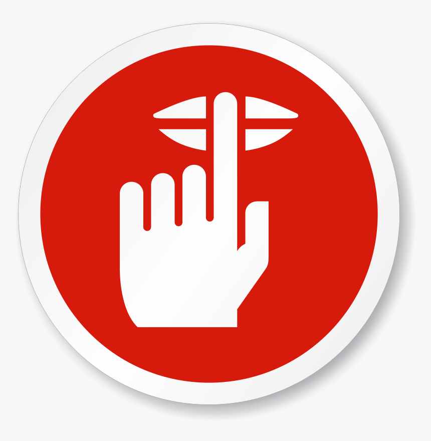 Iso Circle Sign - Finger On Lips Sign, HD Png Download, Free Download