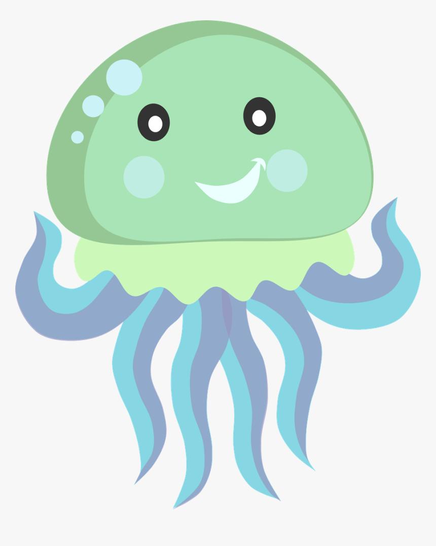 Ocean Clipart Kawaii Cute Jellyfish Clipart Hd Png Download Kindpng