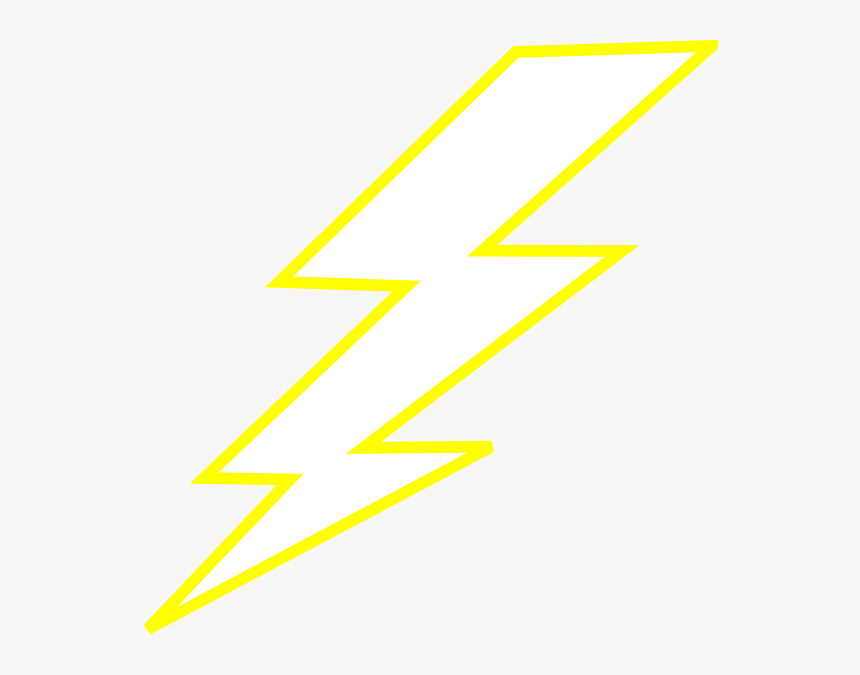 Yellow Lightning Electricity Bolt Thunder Image - Lightning Bolt Clipart, HD Png Download, Free Download