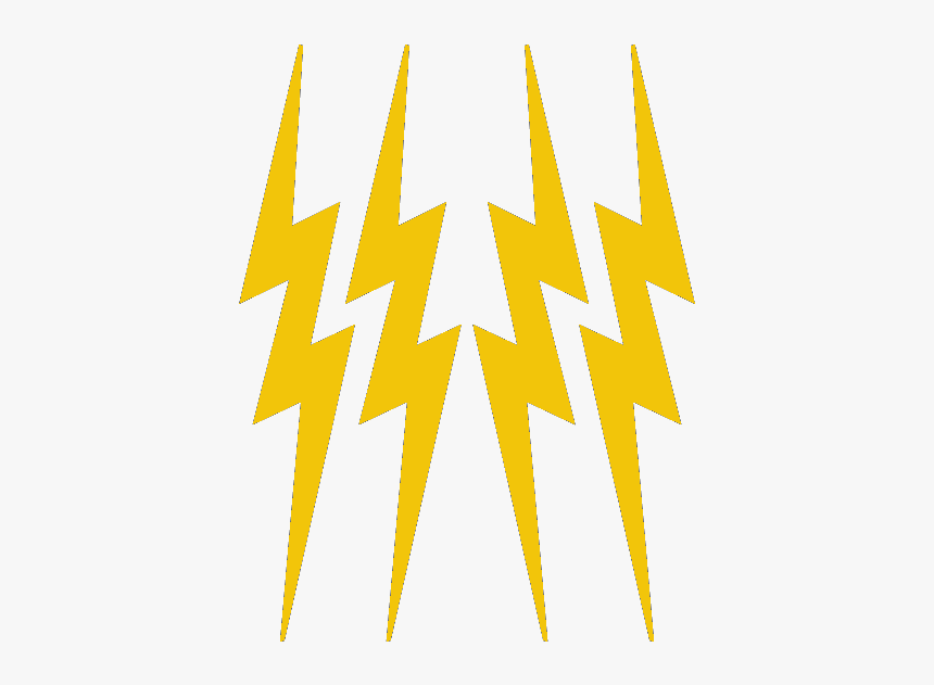 Yellow Lightning Bolts 3 5/8 - Transparent Yellow Lightning Bolt, HD Png Download, Free Download