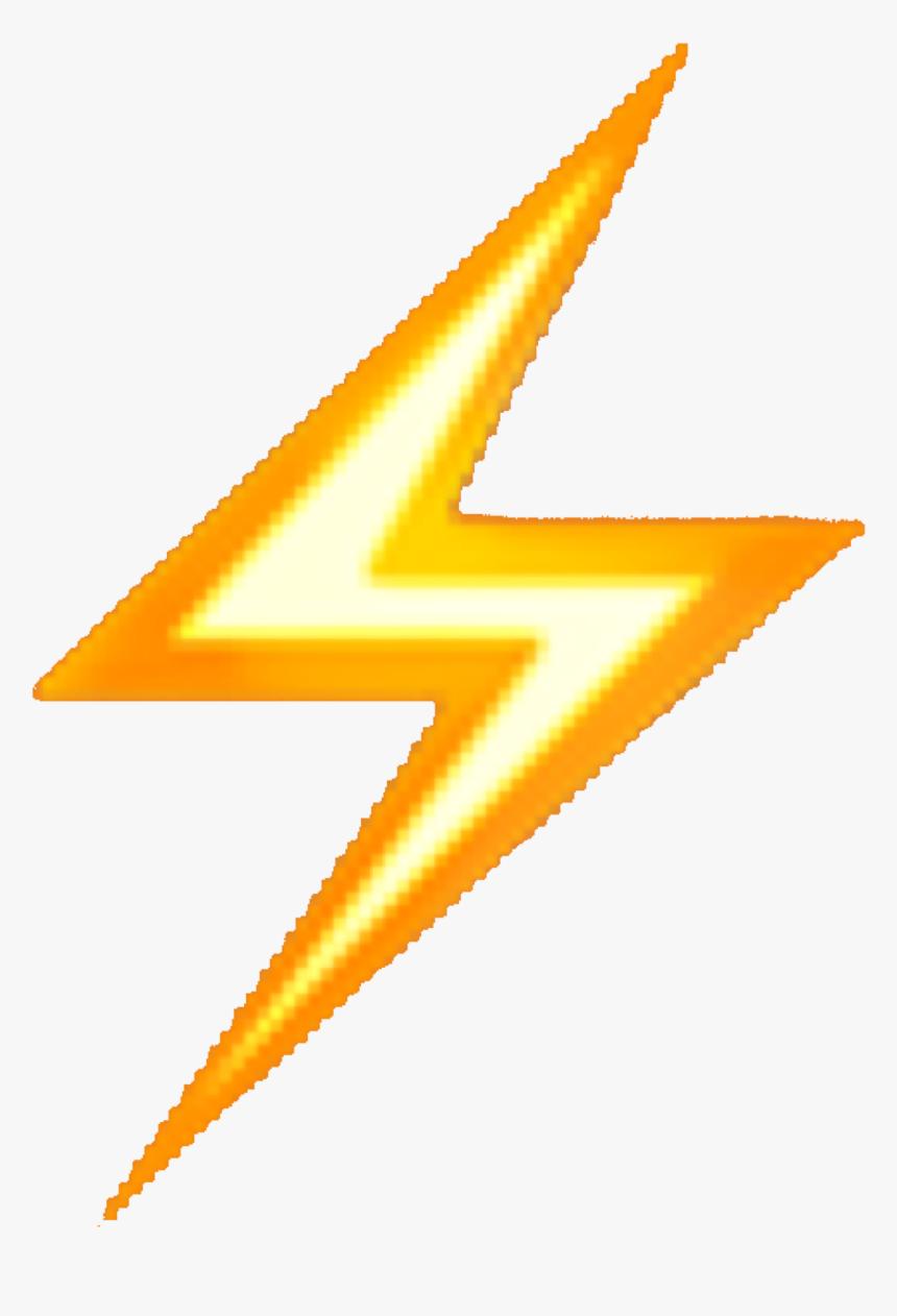#lightning #bolt #emoji #yellow #aesthetic #png #overlay - Iphone Lightning Bolt Emoji, Transparent Png, Free Download