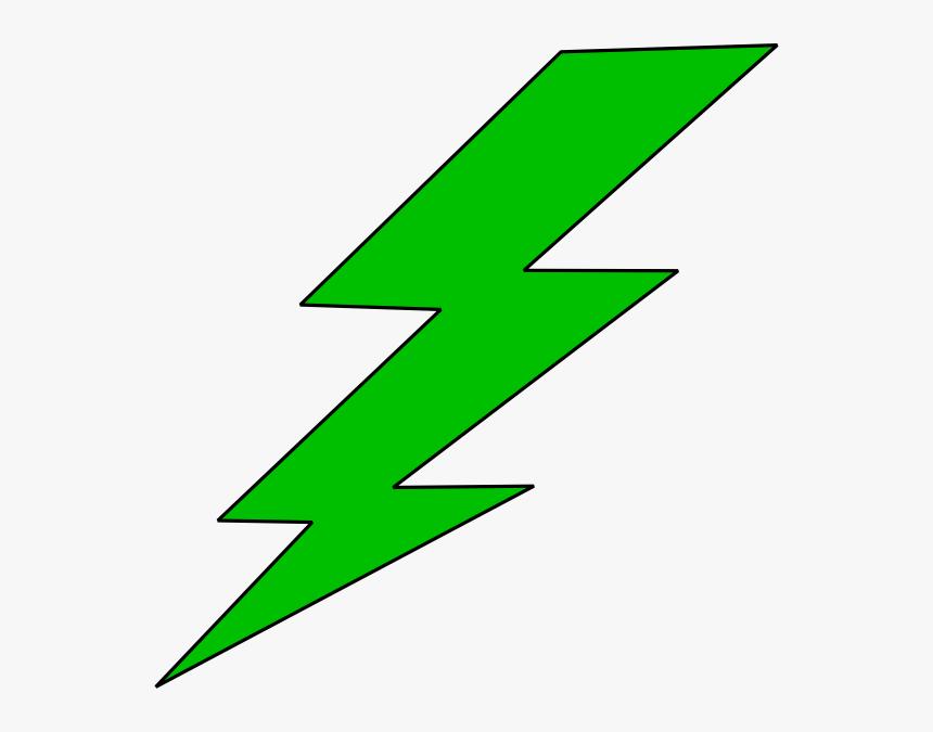Lightning Bolt Green Lighting Bolt Clip Art - Lightning Bolt Clipart, HD Png Download, Free Download