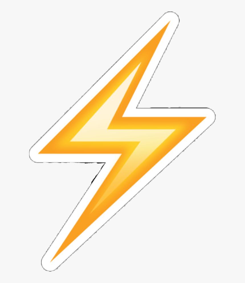 #yellow #lightning #bolt #emoji #emojis #cuteemoji - Emoji De Rayo Png, Transparent Png, Free Download