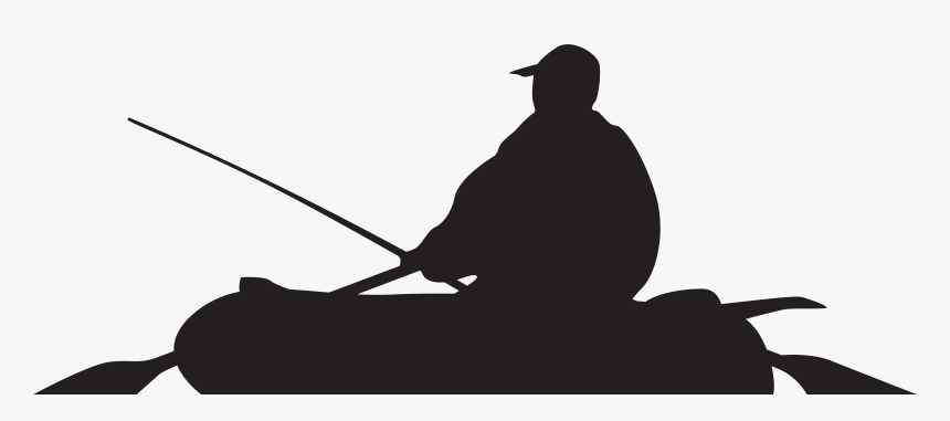 Fisherman Silhouette Png - Silhouette Of Fisherman In Boat, Transparent Png, Free Download