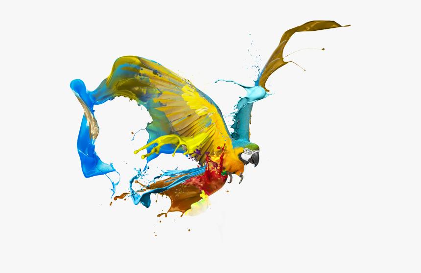 Graphic Art Png - 3d Paint Splash Blue, Transparent Png, Free Download