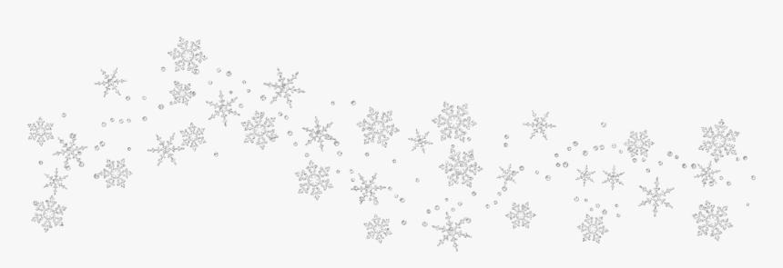 Snowflake Clipart Border Tumundografico White - Transparent Background Snow Border, HD Png Download, Free Download
