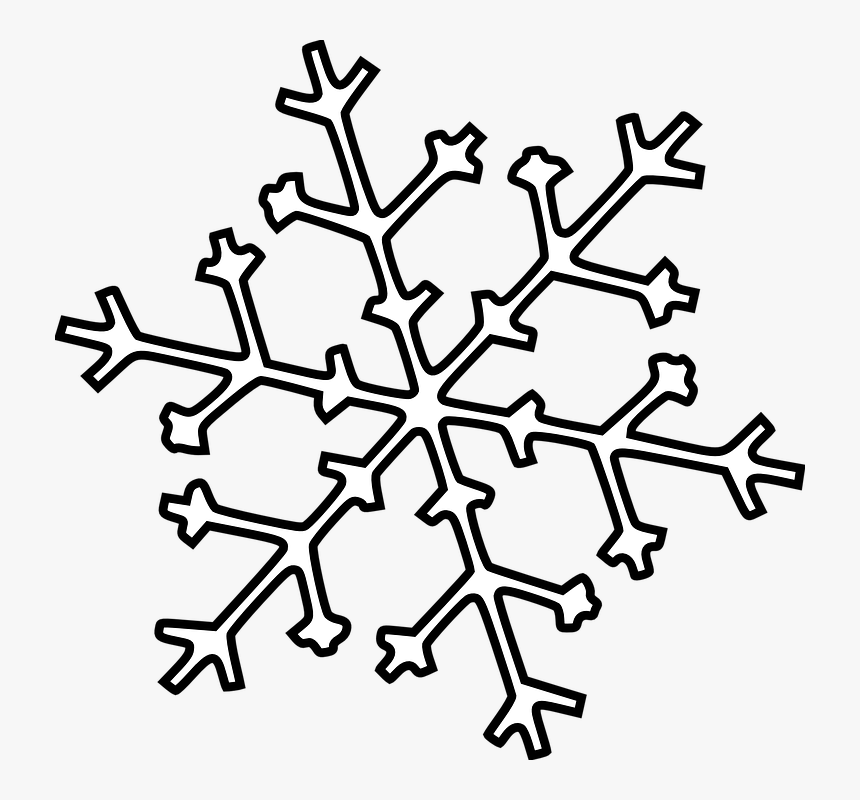 Fall, White, Winter, Christmas, Snow, Snowflake, Cold - Clipart Snowflake Outline, HD Png Download, Free Download