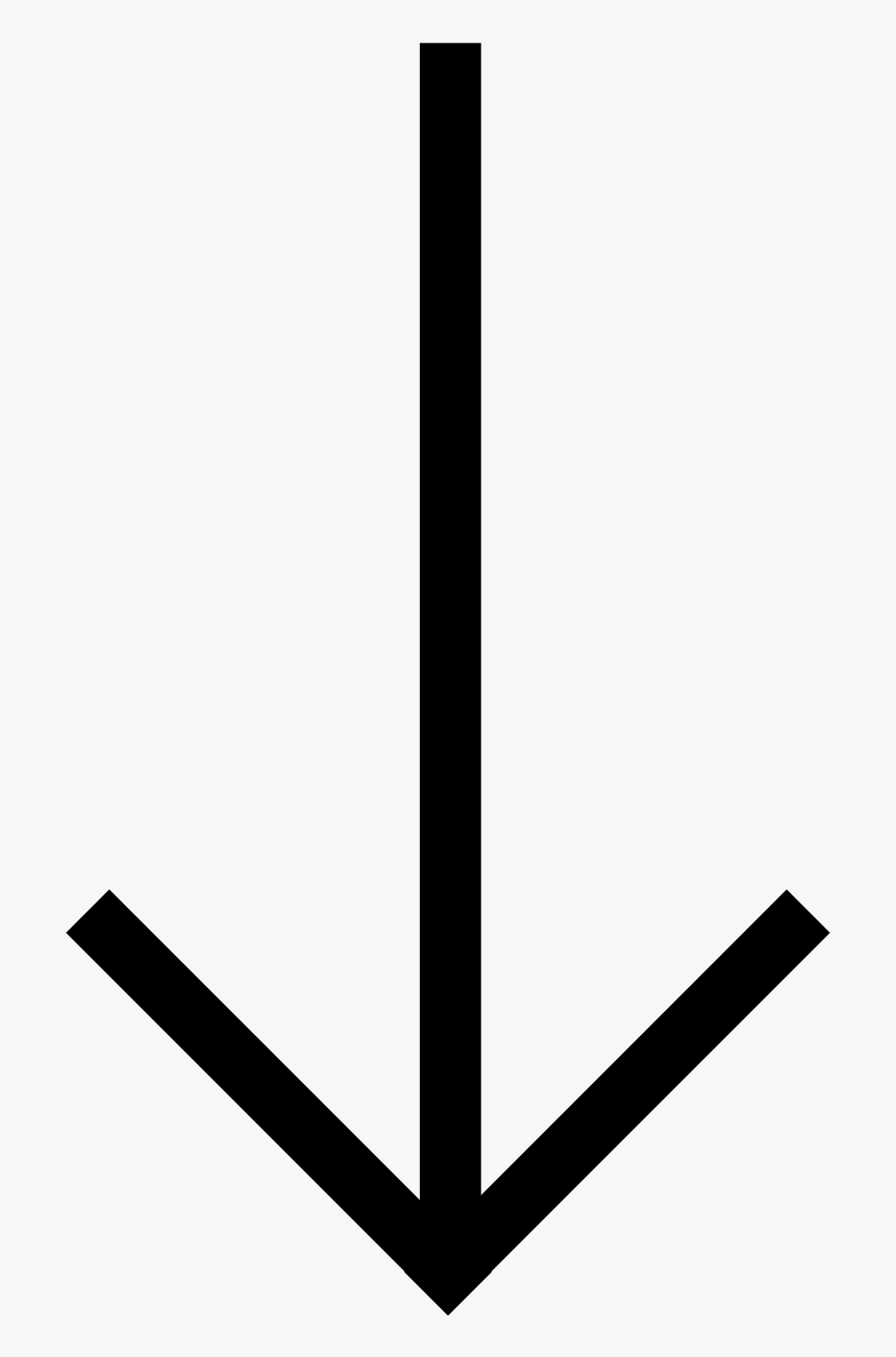 Ios Arrow Thin Down - Small Down Arrow Symbol, HD Png Download, Free Download