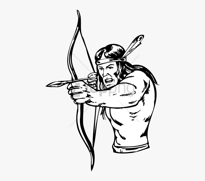 Native American Bow And Arrow Drawing Png Image With - Native American Bow And Arrow Drawing, Transparent Png, Free Download