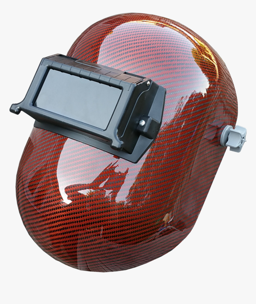 Orange Carbon Fiber Png - Carbon Fiber Hard Hat And Welding Hood, Transparent Png, Free Download